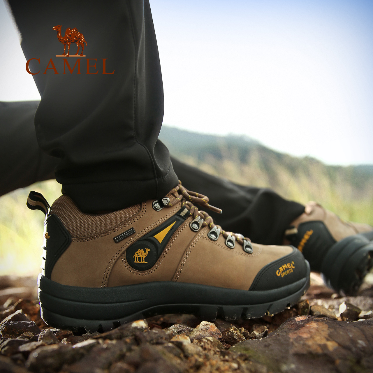 Camel climbing shoes for men waterproof and antiskid outdoor sports summer tourism climbing shoes